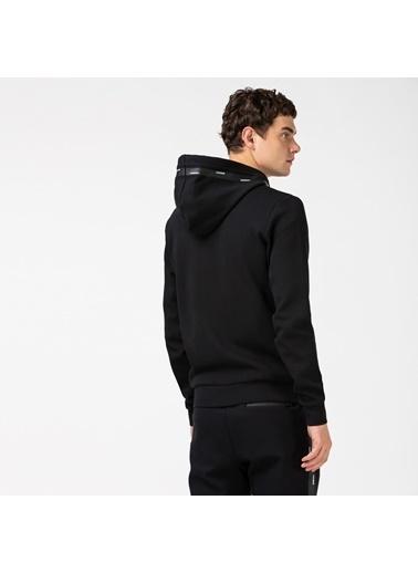 Lacoste Erkek Fermuarlı Sweatshirt SH2105.05S Siyah